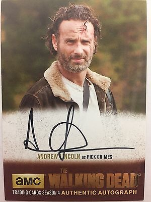 Walking Dead Season 4 Part 2 - Gold Andrew Lincoln - Rick Grimes Autograph Al3
