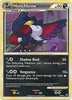 Honchkrow 16/90 HS Undaunted RARE Mint Pokemon