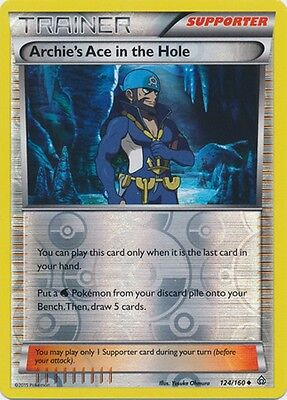 Archie's Ace in the Hole 124/160 XY Primal Clash REVERSE HOLO MINT! Pokemon