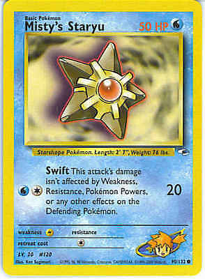 Misty's Staryu 90/132 Gym Heroes Unlimited Common MINT! Pokemon