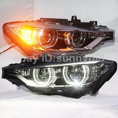 2013 To 2015 For Bmw F30 F35 318 320 325 328 330 335 Led Angel Eyes Headllamp Sy