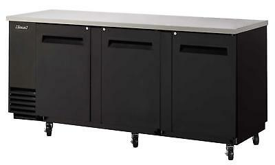 48in narrow depth back bar cooler w/ black vinyl exterior