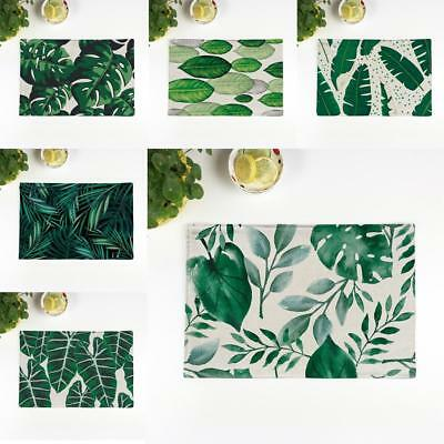 Пластмассовые Novelty Fashion Green Plants Placemats
