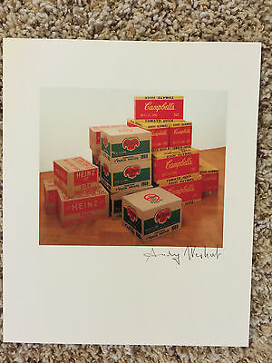 """Andy Warhol, Signed Print, """"heinz, Del Monte And Campbell"""