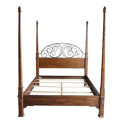 4 Poster Bed ~ Queen Bed ~ Iron Bed ~ Old World Treasures Bed By Ethan Allen