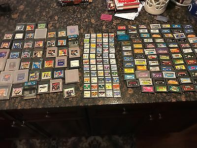 Huge Gameboy Lot Nearly 200 Games. Original, Color, Advance, And Ds