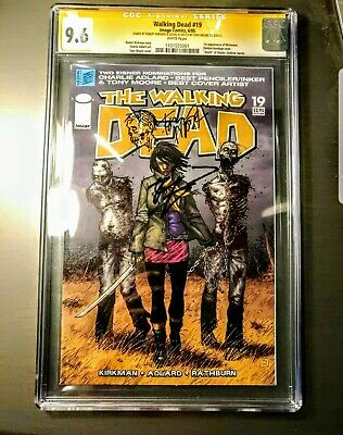 Walking Dead #19 1st Michonne Cgc Signed 2x 9.6 Nm+ Tony Moore Kirkman Sketch!