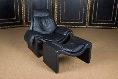 High Quality Leather Lounge Armchair Designer Chair With Stool