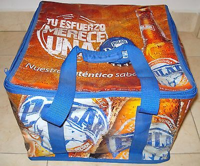 Polar Beer Venezuela Sexy Girls Large Thermal Box Can Bottle Caps Used Rare Prom