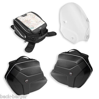 ducati touring package windscreen suitcase tank bag monster 821 1200 new