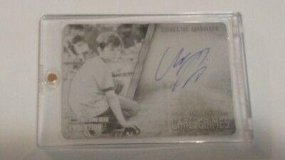 #1/1 Chandler Riggs Carl Grimes Autograph Printing Plate Topps The Walking Dead