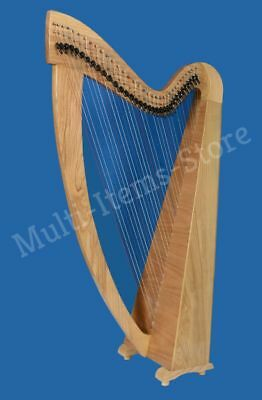 hb beautiful 34 strings lever harp free bag antique christmas gift