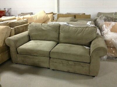 Pottery Barn Pearce Couch Sofa Sectional Pewter Everday Suede Left