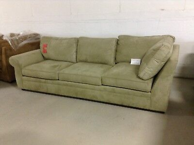 Pottery Barn Pearce Couch Sofa Sectional Jade Stone Everyday Suede Left Sofa