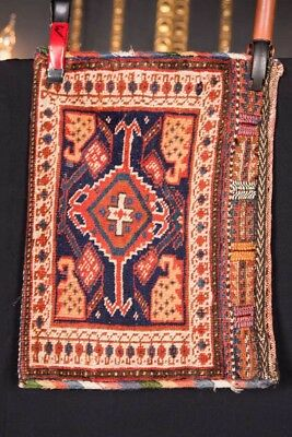 antique afshari carpet bag around 1880 length 19 11/16in x width 13 13/16in