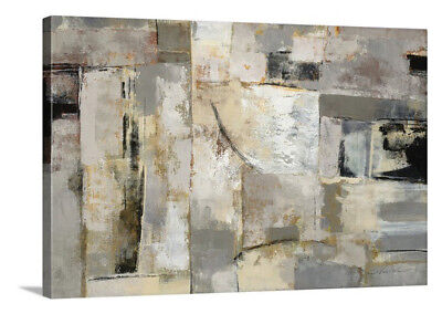 Walking Down The Street By Silvia Vassileva Abstract Stretched Canvas Wall Art