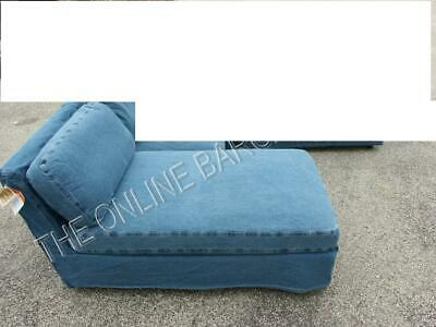 Pottery Barn Westport 3piece Sectional Sofa Armless Chaise Chair Denim Slipcover