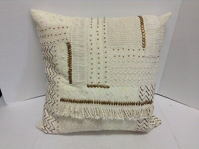 Frontgate Loloi Beaded Decorative Sofa Bed Chair Throw Pillow 22x22