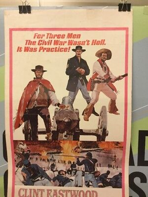 """eastwood,clint """"the good the bad the ugly"""" 1968 original movie insert"""