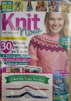 Knit Now Uk 30 Winter Patterns Free Needles& Patterns #42 Free Priority Shipping