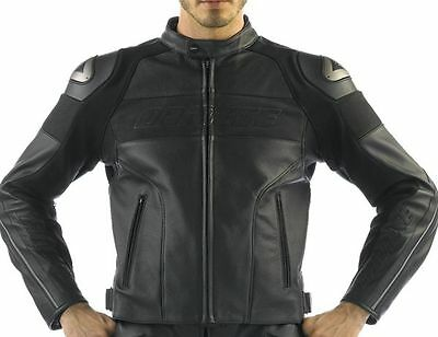 Dainese Alien Pelle Leather Motorcycle Riding Jacket  Ducati Black