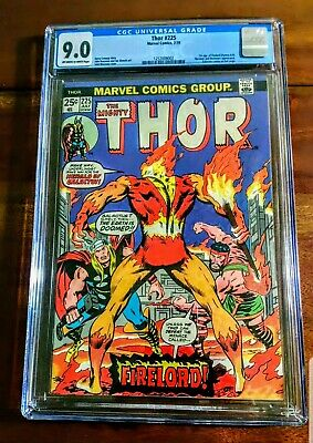 Thor #225 1974 1st Appearance Firelord Cgc 9.0 Vf/nm High Grade!