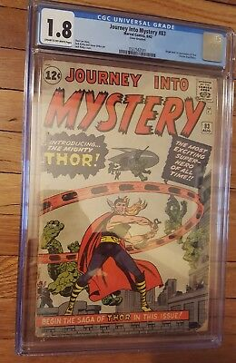 journey into mystery #83 1963 1st thor. ccg 1.8. classic marvel key. solid book