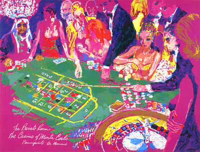 """Leroy Neiman """"salle Privee Monte Carlo"""" Sold Out Edition"""