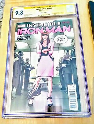 Invincible Iron Man #7 Variant 1st Riri Williams Cgc 9.8 Signed Stan Lee