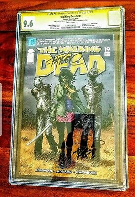 Walking Dead #19 1st Michonne Cgc Signed Ss 2x 9.6 Nm+ Tony Moore Robert Kirkman