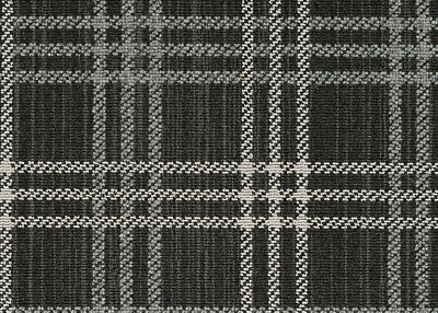 Avery Pepper Custom Cut Plaid Pattern Indoor Carpet Area Rugs