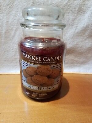 "Yankee Candle ""gingersnaps"" 22 Oz. Large Jar. Facebook Exclusive. 1 Of 2 On Ebay"