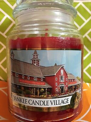 Yankee Candle Village Deerfield Candle 1983 Rare Fall Autumn Mums