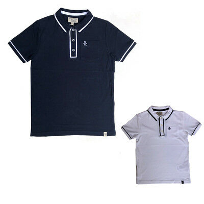 Penguin Boys Polo T-shirt Navy Or White Munsingwear Ages 6 Years To 15 Years