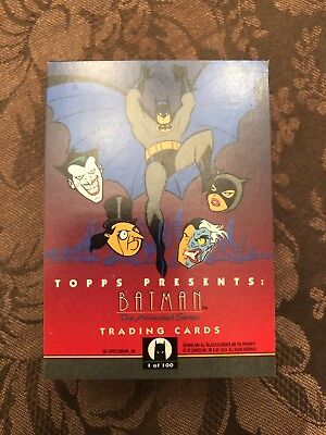 1993 Topps, Batman The Animated Series, 100 Trading Cards, Series One