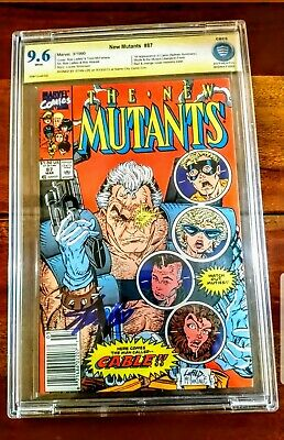 New Mutants 87 1st Cable Ss Signed Stan Lee Cbcs 9.6 Nm+ Movie App! Key Book!