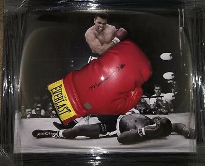 Signed Framed Rare Muhammad Ali Cassius Clay Boxing Glove