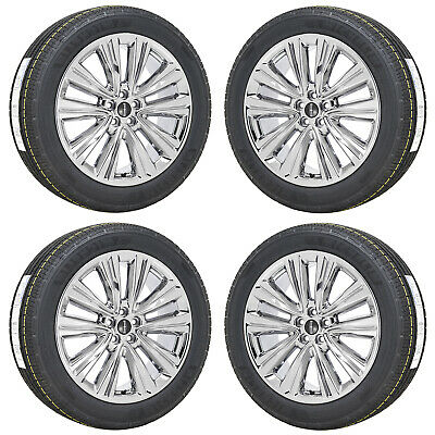 """20"""" Lincoln Mkx Pvd Chrome Wheels Rims Michelin Tires Factory Oem Set 4 10074"""