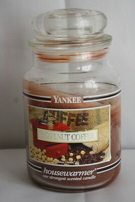 Hazelnut Coffee Yankee Candle Black Band Label 22 Oz Jar