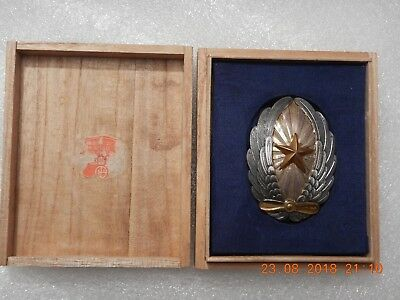 Very Rare ! Wwii Imperial Japan Army Officer Pilot Badge In Silver+ Original Box