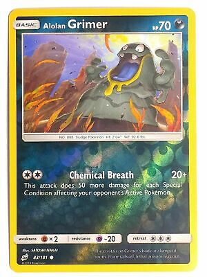 Alolan Grimer 83/181 S&M Team Up REVERSE HOLO PERFECT MINT! Pokemon