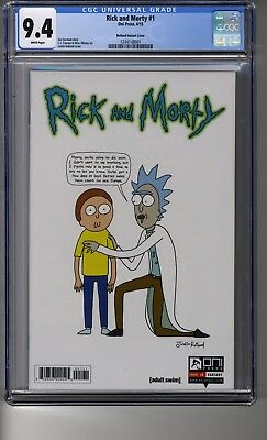 Rick And Morty (2015) # 1 1:50 Justin Roiland Ri - Cgc 9.4 White Pages