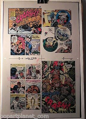 New Gods 6 Flat 8 Jack Kirby Original 3m Color Art Signed Anthony Tollin Coa