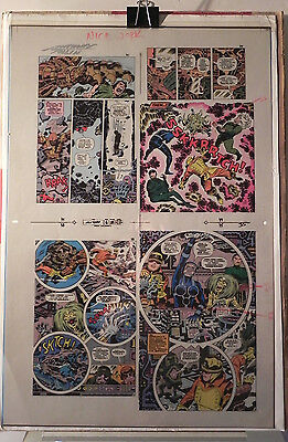 New Gods 6 Flat 18 Jack Kirby Original 3m Color Art Signed Anthony Tollin Coa