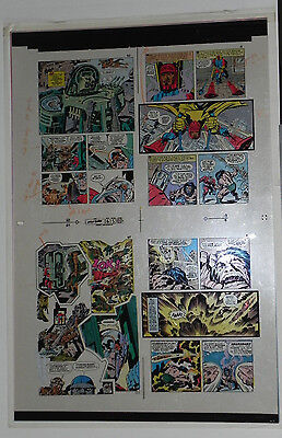 New God 6 Flat 5 Jack Kirby Original 3m Color Art Signed Anthony Tollin Coa