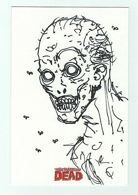 Walking Dead Comic Season 2 Oversized Sketch Card Osa1 By Robert Kirkman