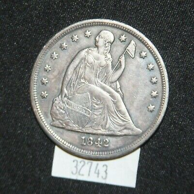 West Point Coins ~ 1842 Seated Dollar - Very Nice Coin