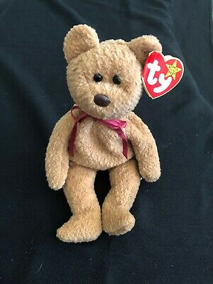 "Rare Retired ""curly"" Ty Beanie Baby W/tag Errors New"