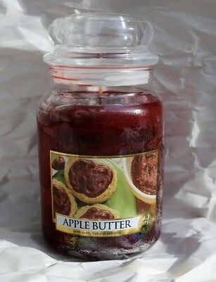 """Rare Retired Yankee Candle ~ """" Apple Butter """" Large Jar Candle 22 Oz Htf"""