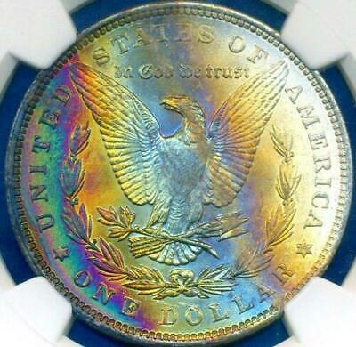 1896 Morgan Silver Dollar Ngc Ms64*star Rainbow Toned In High Grade Must Have